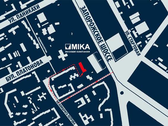 Местонахождение офиса на карте города Днепропетровска